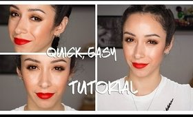 Olivia Munn Oscars Red Carpet 2016 Inspired Makeup Tutorial|| Quick and Easy!