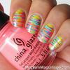 Painterly Stripes Nail Art