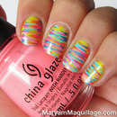 Painterly Stripes Nail Art