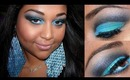 Black and Turquoise cut crease tutorial!!!