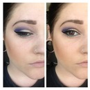 Purple and gold smokey with green accent