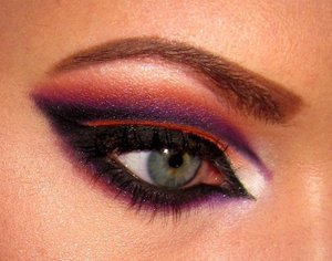 Orange and Purple Cut Crease