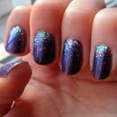 Purple with Iridescent Glitter