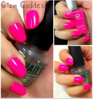 Pop Beauty Nail Glam's In Twelve Pinky (Neon Hot Pink).