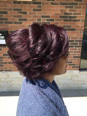 Style, Hair color and hair cut by Christy Farabaugh