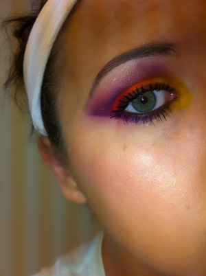 Close of my eye, using the Burning Heart Palette by Sugar Pill!