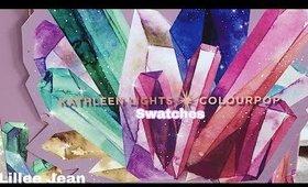 NEW Colourpop x Kathleen Lights SO JADED Pressed Powder Palette Eyeshadow SWATCHES | Lillee Jean