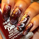 Busy Girl Nails Fall Nail Art Challenge - Oxblood