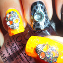 3D Bling Skulls and Spider Webs Nails