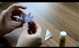 DIY Papierová kytica