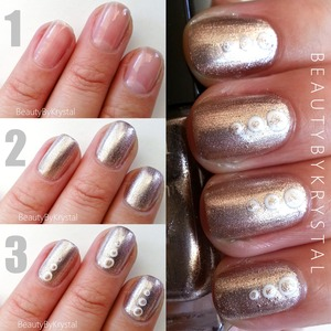 See the full tutorial on my blog: http://www.beautybykrystal.com/2013/07/bronze-white-tri-dot-photo-torial.html