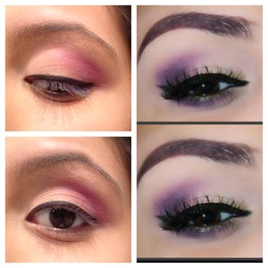 Same idea on the right but I don't have the same purple as it shows on the left but yup :)