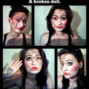 A doll will always smile, but crack its face and bruises will show.