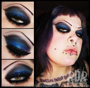 Just some simple eyes I did the other day using my new Zombie Defense Palette from Lunatick Cosmetic Labs!
