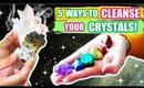 5 WAYS TO CLEANSE YOUR CRYSTALS!