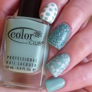 Mint Green Skittle Mani