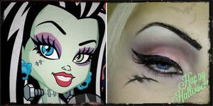 Monster High Frankie Stein inspired look