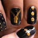 Beautiful biker nails