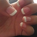 French tip shellac :) stay classy, ladies!