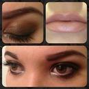 Dark eye & Nude lip
