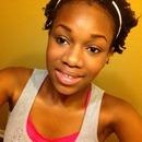 Twist out ;natural eyeshadow ;black liner;pink blush