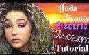 Huda Beauty Electric Obsessions Eyeshadow Palette Tutorial - Sunset Eye- (NoBlandMakeup)