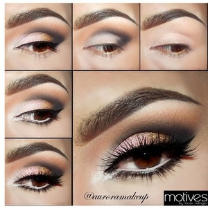 You can get this look using all motives products