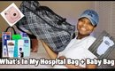 Whats In My Hospital Bag 2018 For Labor and Delivery + Baby Bag