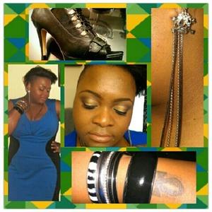 Dress- Dots Bangles-Torrid Chain Earrings- K-Mart Skull Earrings-Torrid  Open Toe Pumps -Yoki *Makeup was done with Urban Decay Naked Palette
