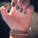 Army green nails!