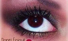 Smokey eye (Valentine's Day makeup)