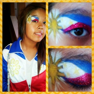 I did this look for my Daughter,I only had 30 min to try to make it work.Products are LA SPLASH and MAKE UP FOR EVER TECHNI COLOR.