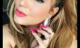 A pretty girly makeup look