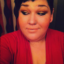 Yellow Cut Crease With Nude Lip