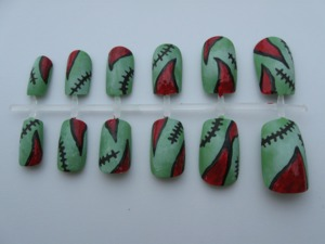 Buy them here: http://www.etsy.com/listing/107691761/zombie-nail-set