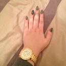 Nails, Mid Ring, Michael Kors Watch.