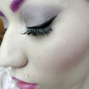 Winged Liner & Purple Shadow
