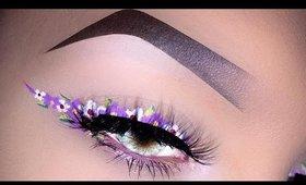 Floral Eyeliner Fresh Spring Makeup Tutorial ft. NYX & Ofra