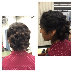 Got to do a prom hair trial on a client yesterday and it turned out better than I ever would have expected 😍😍😍👌👌👌