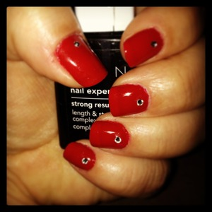 Red Mani with Gems