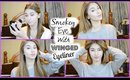 Smokey Eye With Winged Eyeliner | Genuinebeautyxox
