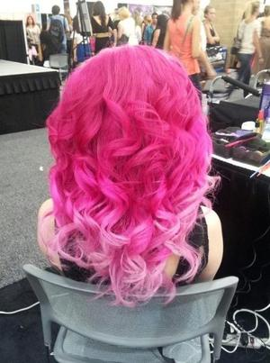 The back of my head; my hair looking fierce for the opening of IMATS! xo