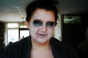 Hallween make up I did for a friend.