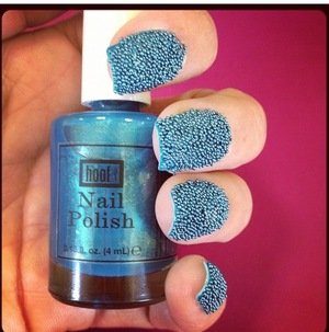 Nail Polish By Hoof & Caviar Beads By California Nails!!!   http://www.facebook.com/pages/California-Nails/348545681842439
