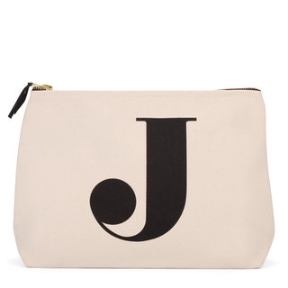 Natural Wash Bag Letter J