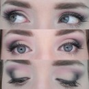 Peach/pink smokey eye
