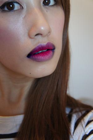 Purple/Pink Ombre Lip using Mac and Illamasqua Lipsticks