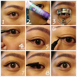 1. For the purpose of this tutorial, I'm starting off with a clean eye with no eyeshadow.