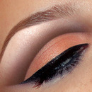 Natural peach cut crease look + make-up tutorial. Wedding bridal make up