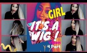 I'TS A WIG VIXEN 4 PART HAIR REVIEW $49    EBONYLINE.COM!